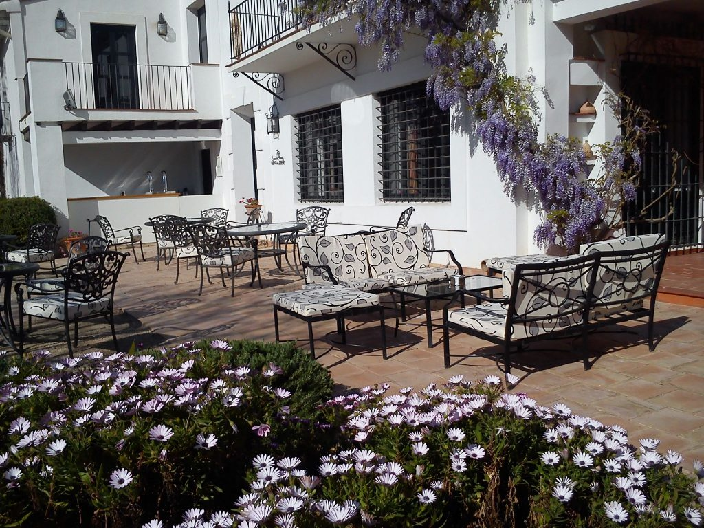 Terraza decoración mediterránea