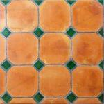 Baldosas de Barro Cocido Octogonales Terracotta 30x30x2cm