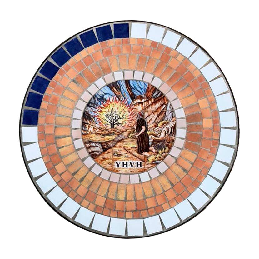 roseton de ceramica redondo