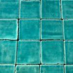 azulejo hecho a mano 10x10 verde esmeralda