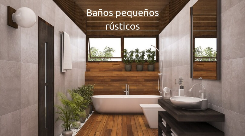 Como decorar un ba o peque o rustico for Decoracion de jardines interiores pequenos