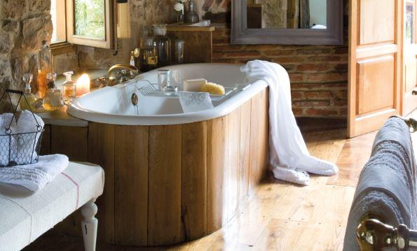 bañera rustica